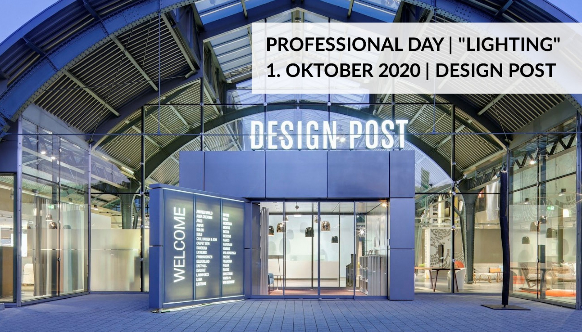 "pCon.planner PREVIEW ""LIGHTING"" in der Design Post, Köln am 01.10.2020"